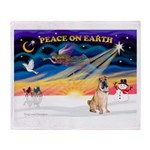 XmasSunrise/Shar Pei 5 Throw Blanket