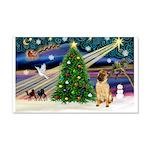 Christmas Magic & Shar Pei #2 22x14 Wall Peel