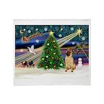 Christmas Magic & Shar Pei #2 Throw Blanket