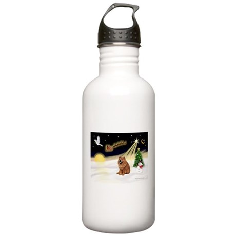 Night Flight/Chow #2 Stainless Water Bottle 1.0L