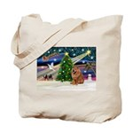 Xmas Magic & Chow Tote Bag