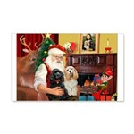 Santa's 2 Cockers 22x14 Wall Peel