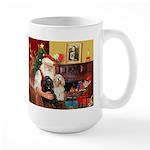 Santa's 2 Cockers Large Mug