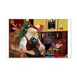 Santa's Black Cocker 22x14 Wall Peel