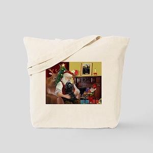 Santa's Black Cocker Tote Bag