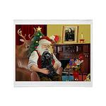 Santa's Black Cocker Throw Blanket