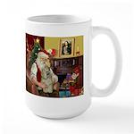 Santa's Buff Cocker Large Mug