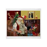 Santa's Buff Cocker Throw Blanket