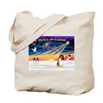 XmasSunrise/Collie #1 Tote Bag