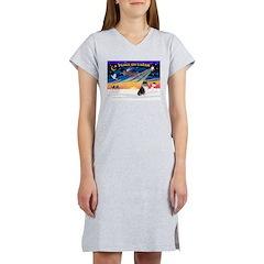 XmasSunrise/Collie #4 Women's Nightshirt