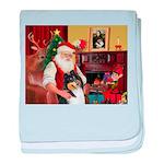 Santa's Collie (t) baby blanket