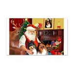 Santa's Collie pair 22x14 Wall Peel