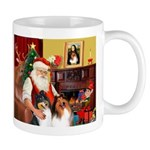 Santa's Collie pair Mug