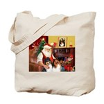 Santa's Collie pair Tote Bag