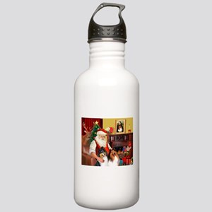 Santa's Collie pair Stainless Water Bottle 1.0L