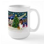 Xmas Magic & Collie Large Mug