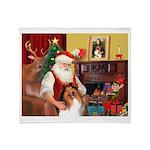 Santa's Collie Throw Blanket