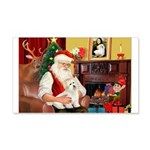 Santa's Coton de Tulear 22x14 Wall Peel