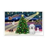 Xmas Magic & Coton De Tulear 22x14 Wall Peel