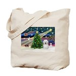 Xmas Magic & Coton De Tulear Tote Bag