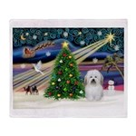 Xmas Magic & Coton De Tulear Throw Blanket