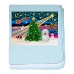 Xmas Magic & Coton De Tulear baby blanket