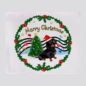 XmasMusic1/Dachshund #17 Throw Blanket