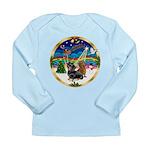 XmasMusic 3/2 Dachshunds Long Sleeve Infant T-Shir