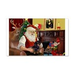Santa's Dachshund (bt) 22x14 Wall Peel