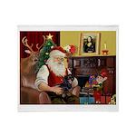 Santa's Dachshund (bt) Throw Blanket