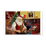 Santa's Dachshund (Br) 22x14 Wall Peel