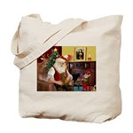 Santa's Dachshund (Br) Tote Bag