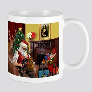 Santa/Two Dachshunds (BB) Mug