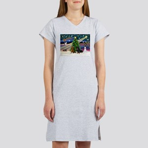 XmasMagic/2 Dachshund (BB) Women's Nightshirt