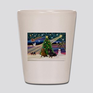 XmasMagic/2 Dachshund (BB) Shot Glass
