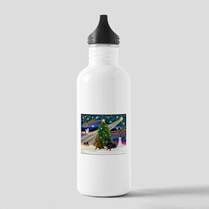 XmasMagic/2 Dachshund (BB) Stainless Water Bottle