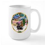 XmasMagic/2 Dachshunds Large Mug