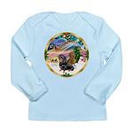 XmasMagic/2 Dachshunds Long Sleeve Infant T-Shirt