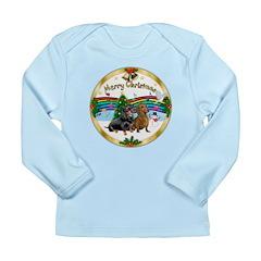 XmasMusic1/ 2 Dachshunds Long Sleeve Infant T-Shir