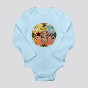 XmasMusic2/Dachshund (WH)#11 Long Sleeve Infant Bo