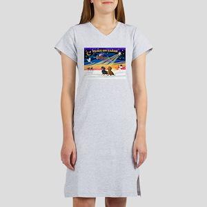 XmasSunrise/ 2 Dachshunds Women's Nightshirt