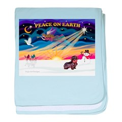 XmasSunrise/Dachshund (WH) baby blanket