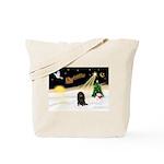 Night Flight/Dachshund Lh Tote Bag