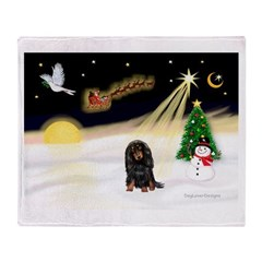 Night Flight/Dachshund Lh Throw Blanket