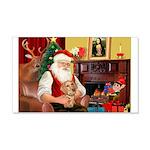 Santa's Dachshund (wire) 22x14 Wall Peel
