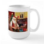 Santa's Dachshund (wire) Large Mug