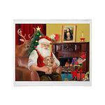 Santa's Dachshund (wire) Throw Blanket