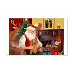 Santa's Dachshund (LH-S) 22x14 Wall Peel