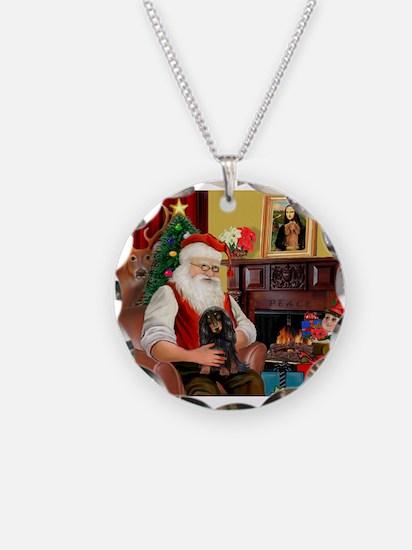 Santa's Dachshund (LH-B) Necklace
