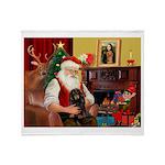 Santa's Dachshund (LH-B) Throw Blanket